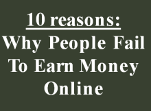 fail to earn money online